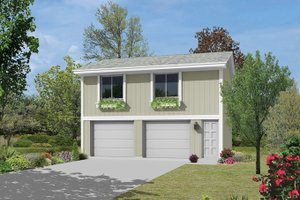 Home Plan - Exterior - Front Elevation Plan #57-632
