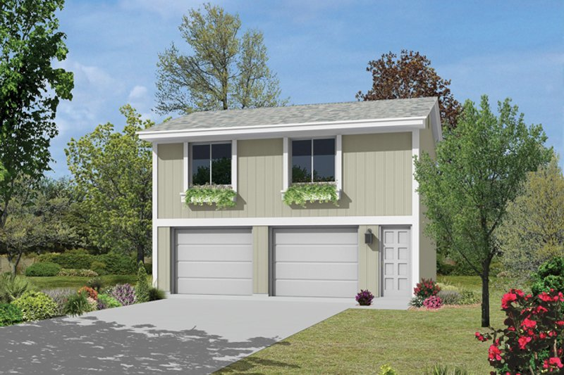 Exterior - Front Elevation Plan #57-632