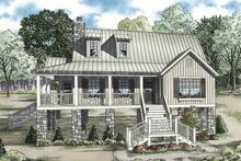 House Plan Design - Mediterranean Exterior - Front Elevation Plan #17-3299