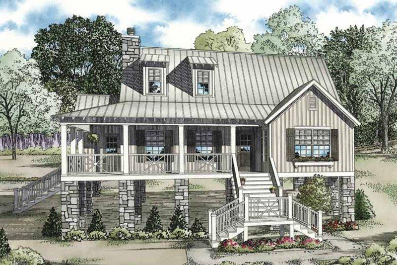 House Plan Design - Mediterranean Exterior - Front Elevation Plan #17-3299