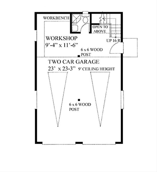 Craftsman Floor Plan - Main Floor Plan Plan #118-124
