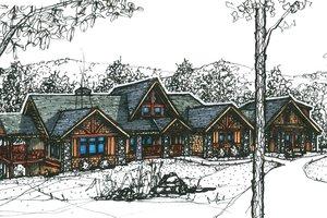 Craftsman Exterior - Front Elevation Plan #921-10