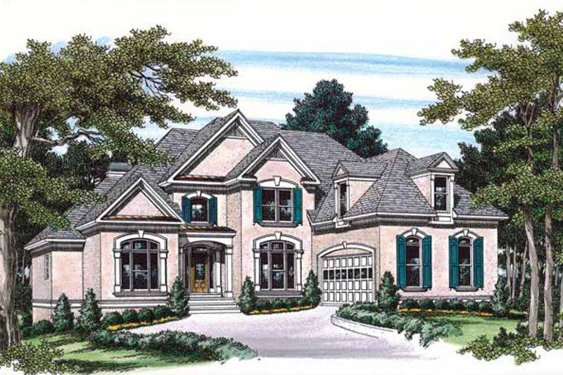 House Plan Design - Mediterranean Exterior - Front Elevation Plan #927-183