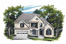 House Design - Mediterranean Exterior - Front Elevation Plan #927-198