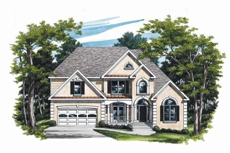 Mediterranean Exterior - Front Elevation Plan #927-198
