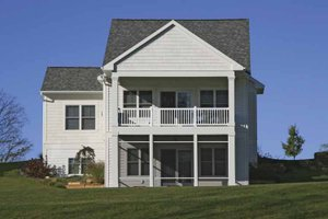 Traditional Exterior - Rear Elevation Plan #928-181