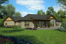 Craftsman Exterior - Rear Elevation Plan #48-1015