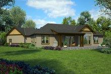 Dream House Plan - Craftsman Exterior - Rear Elevation Plan #48-1015
