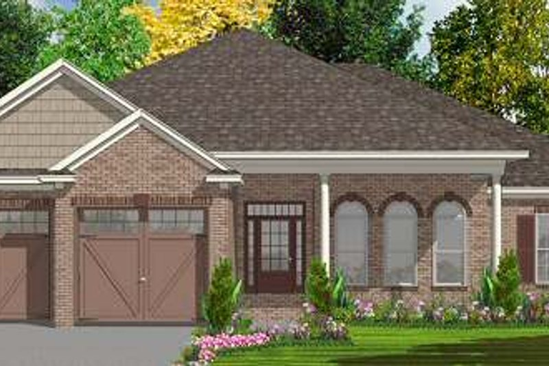 Traditional Style House Plan - 4 Beds 2 Baths 2343 Sq/Ft Plan #63-156 Exterior - Front Elevation