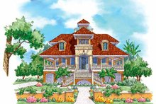 Mediterranean Exterior - Front Elevation Plan #930-137