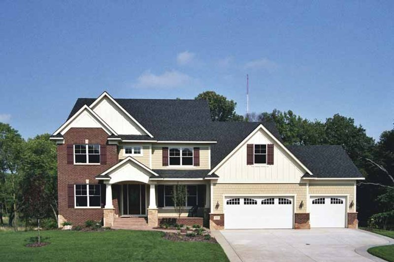 House Plan Design - Colonial Exterior - Front Elevation Plan #51-677