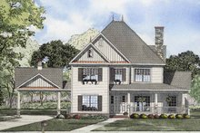 Classical Exterior - Front Elevation Plan #17-2855