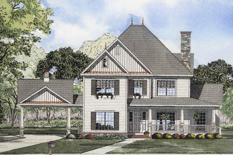 Classical Exterior - Front Elevation Plan #17-2855 - Houseplans.com