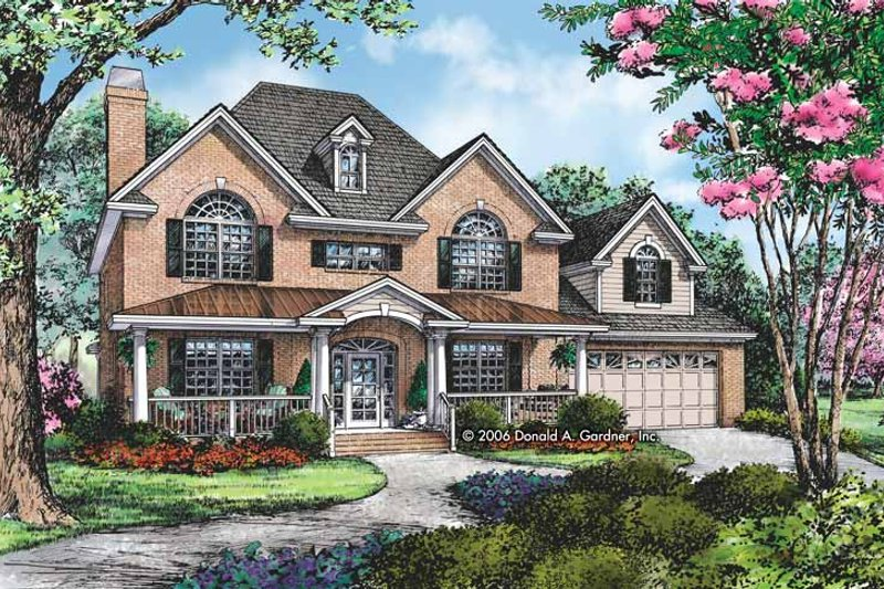 Traditional Exterior - Front Elevation Plan #929-794 - Houseplans.com