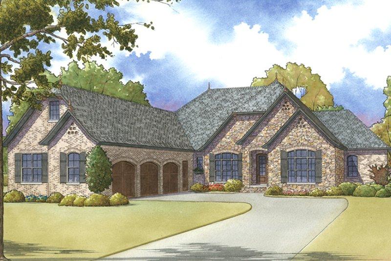 Architectural House Design - European Exterior - Front Elevation Plan #17-3379
