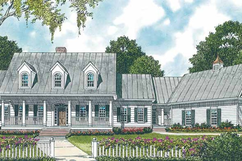 Classical Exterior - Front Elevation Plan #453-332