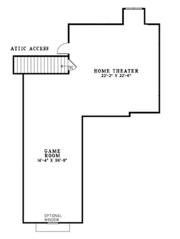 Craftsman Floor Plan - Other Floor Plan Plan #17-2771