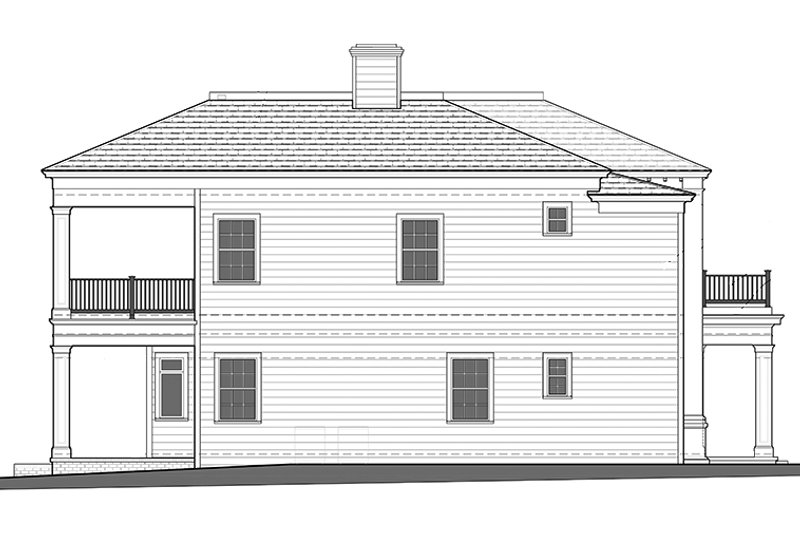 Classical Exterior - Other Elevation Plan #1058-83 - Houseplans.com