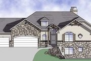 Craftsman Style House Plan - 5 Beds 3.5 Baths 2400 Sq/Ft Plan #5-143 Exterior - Front Elevation