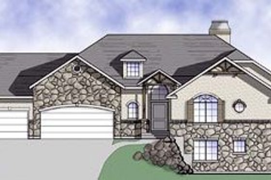 Craftsman Exterior - Front Elevation Plan #5-143