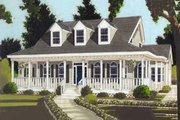 Southern Style House Plan - 3 Beds 2.5 Baths 1649 Sq/Ft Plan #3-133 Exterior - Front Elevation