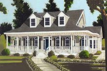 Home Plan - Southern Exterior - Front Elevation Plan #3-133