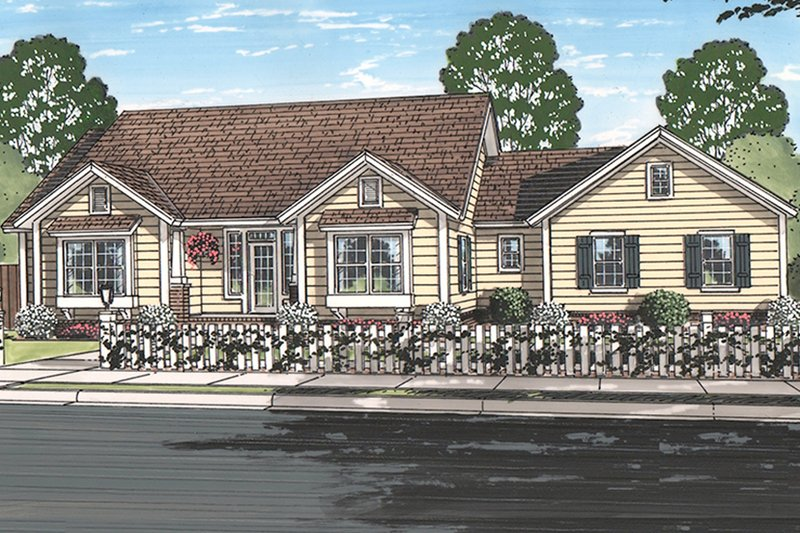 Ranch Exterior - Front Elevation Plan #513-2157 - Houseplans.com
