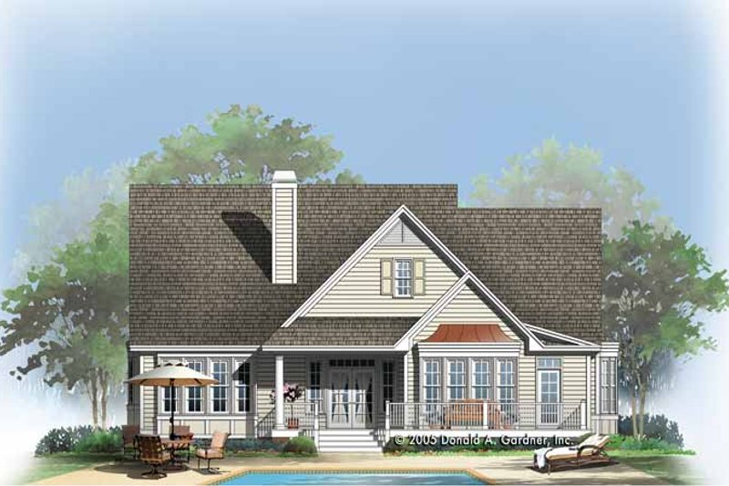Traditional Exterior - Rear Elevation Plan #929-769 - Houseplans.com