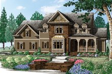 Architectural House Design - Traditional Exterior - Front Elevation Plan #927-957