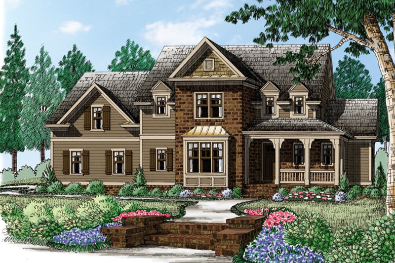 House Plan Design - Traditional Exterior - Front Elevation Plan #927-957