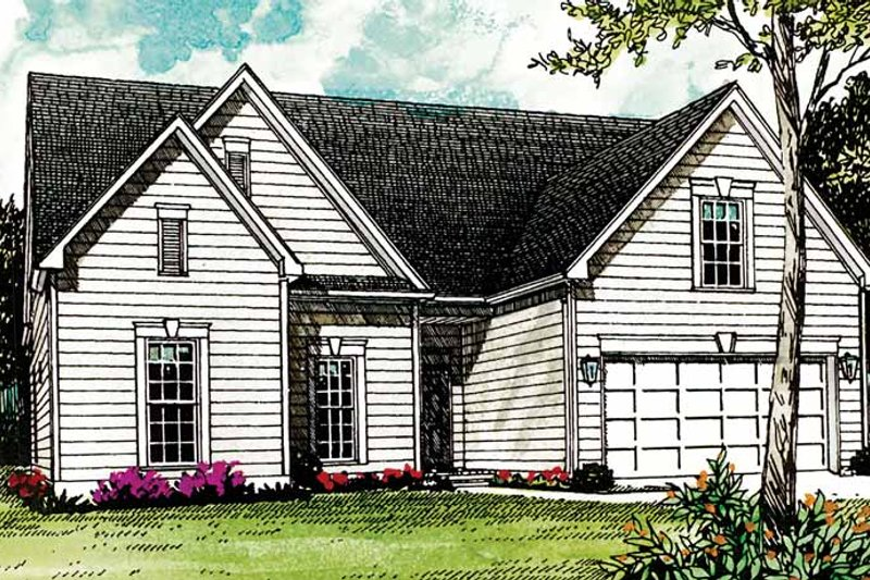 Colonial Exterior - Front Elevation Plan #453-264