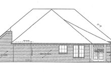 European Exterior - Rear Elevation Plan #310-1261