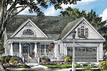 Architectural House Design - Ranch Exterior - Front Elevation Plan #929-991