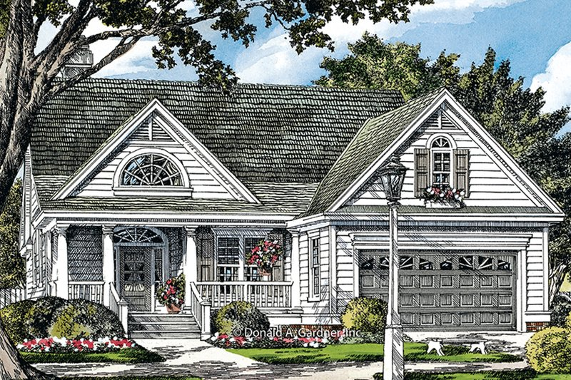 Dream House Plan - Ranch Exterior - Front Elevation Plan #929-991