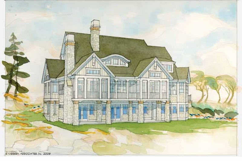 Country Exterior - Rear Elevation Plan #928-231 - Houseplans.com