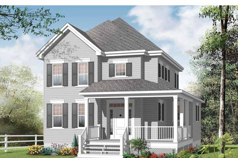 Country Exterior - Front Elevation Plan #23-2549 - Houseplans.com
