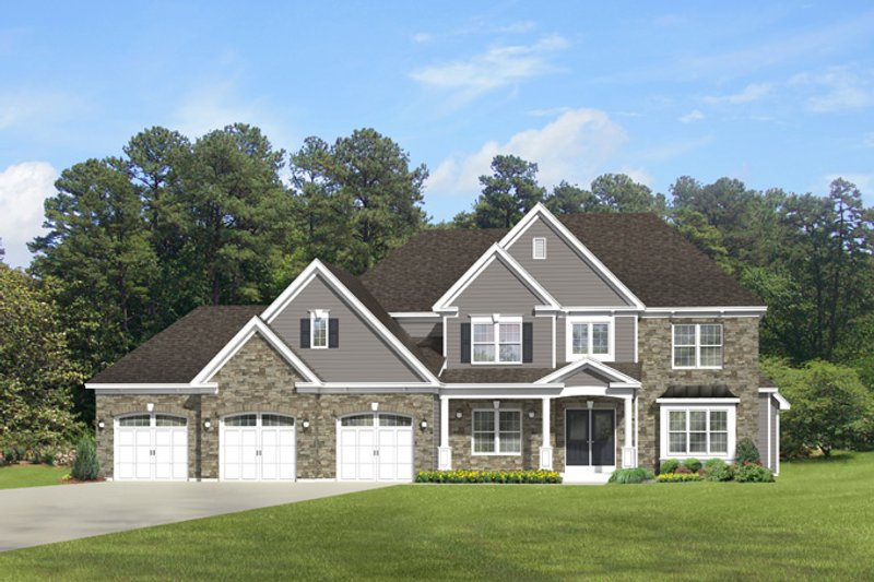 Architectural House Design - Traditional Exterior - Front Elevation Plan #1010-96