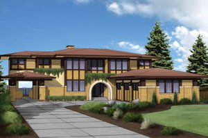 House Plan Design - Prairie Exterior - Front Elevation Plan #569-30