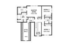 Country Floor Plan - Upper Floor Plan Plan #1010-121