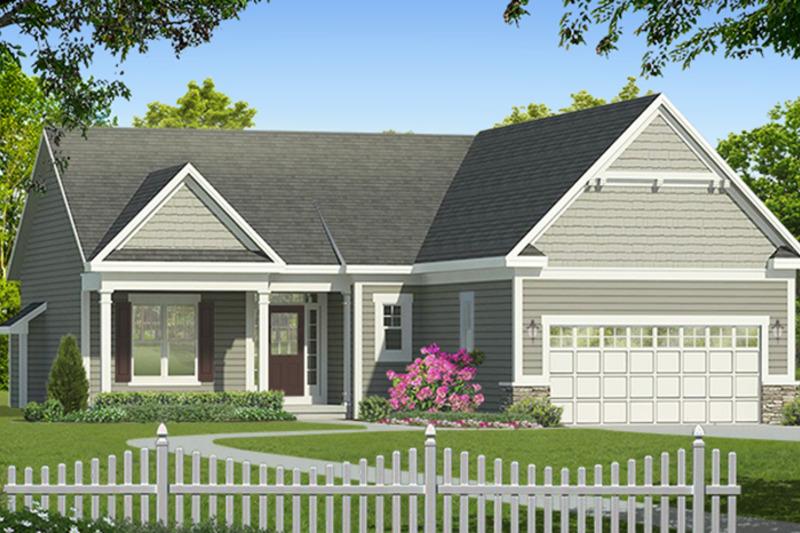 Ranch Exterior - Front Elevation Plan #1010-178 - Houseplans.com