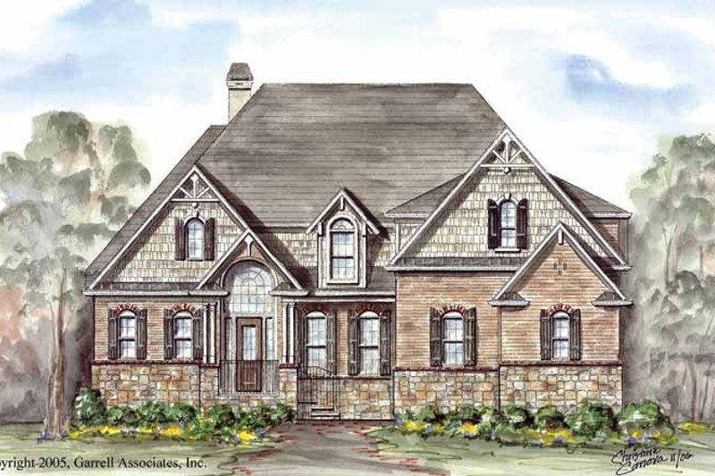 Victorian Exterior - Front Elevation Plan #54-260