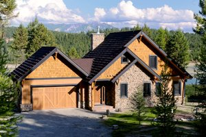 Cottage Exterior - Front Elevation Plan #23-417