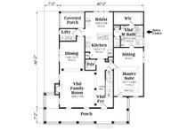 Country Floor Plan - Main Floor Plan Plan #419-249