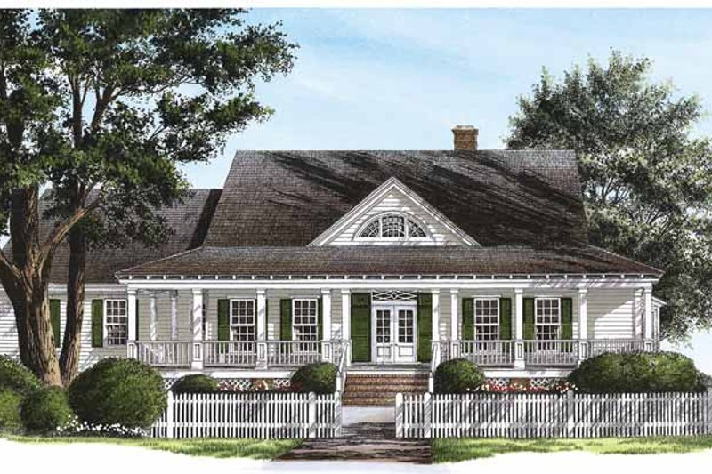 Country Exterior - Front Elevation Plan #137-320