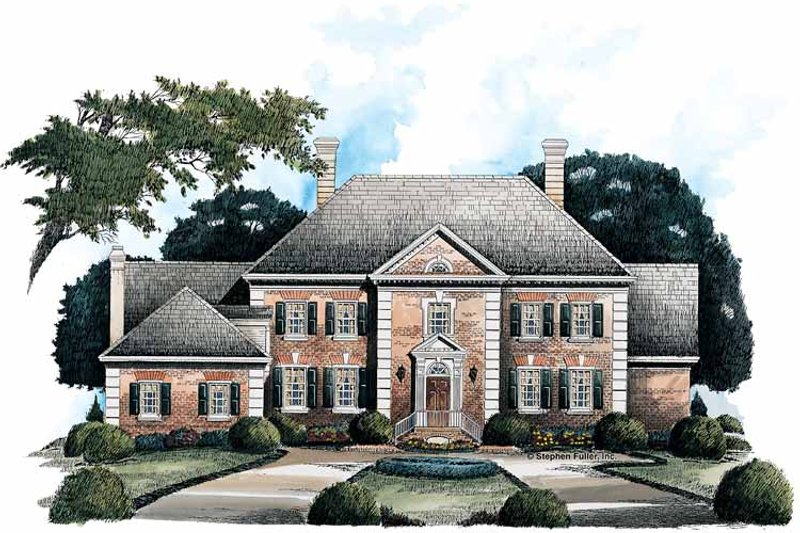 Colonial Exterior - Front Elevation Plan #429-136
