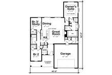 Farmhouse Floor Plan - Main Floor Plan Plan #20-2393