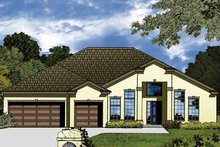 Contemporary Exterior - Front Elevation Plan #1015-48