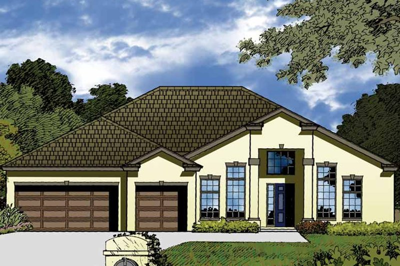 Contemporary Exterior - Front Elevation Plan #1015-48 - Houseplans.com