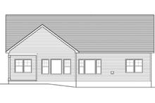 Dream House Plan - Ranch Exterior - Rear Elevation Plan #1010-41