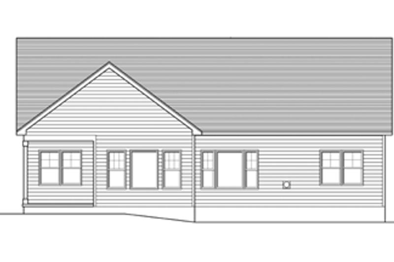 Ranch Exterior - Rear Elevation Plan #1010-41 - Houseplans.com